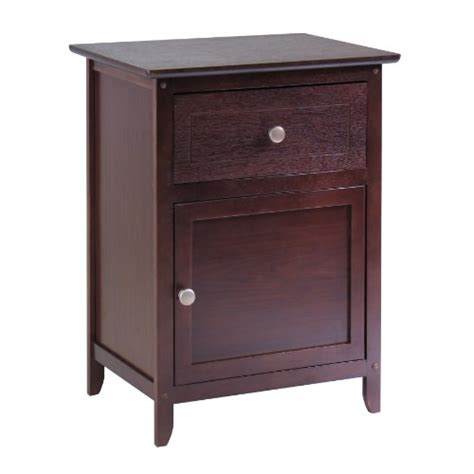 accent table storage winsome wood night stand accent table w drawer cabinet