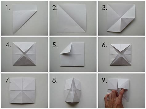 Folding A Fortune Teller Paper - my handmade home tutorial origami fortune teller