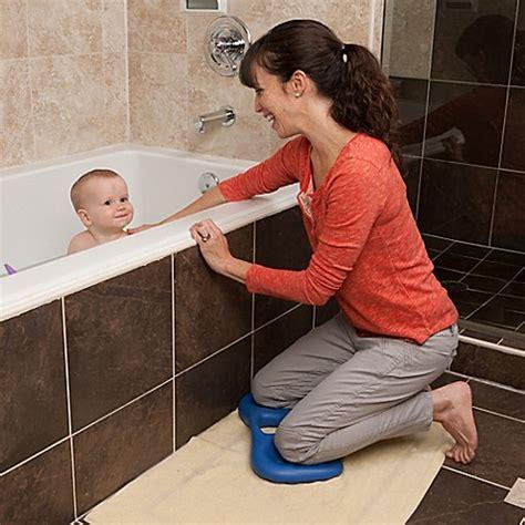 bathtub kneeler backjoy 174 bath kneeler in sea blue www buybuybaby com