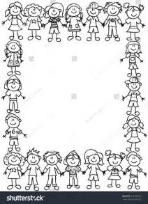 frame page border cute kid cartoon stock vector 250781956