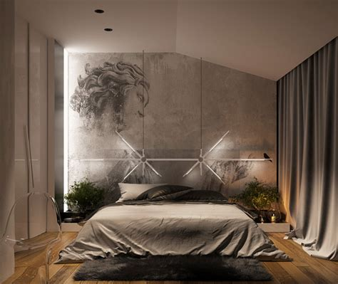 artistic bedroom ideas dramatic bedroom lighting decor