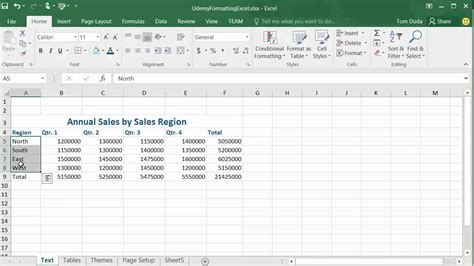 Microsoft Excel Spreadsheet Tutorial by Formatting Spreadsheets Microsoft Excel 2016 Tutorial