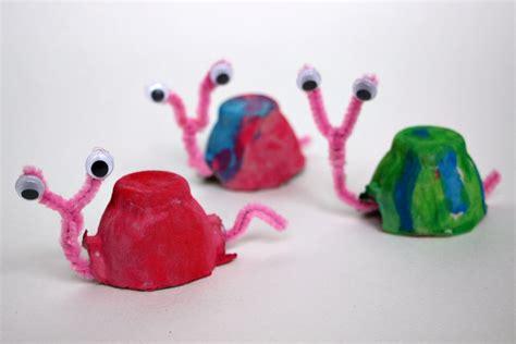 snail crafts for egg snail craft