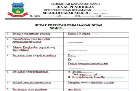 Contoh Surat Perintah Tugas Perjalan Dinas by Sppd Surat Perintah Perjalanan Dinas Kepala Sekolah