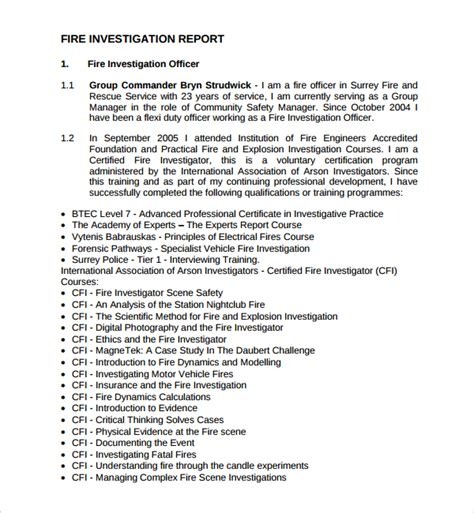 formal investigation report template 14 investigation report templates sle templates