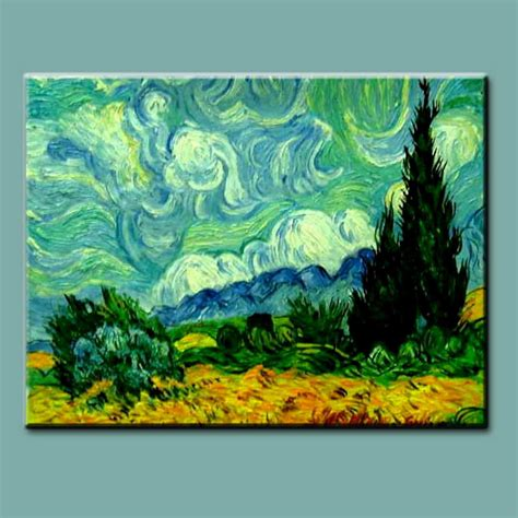 handmade landscape painting reproduction on