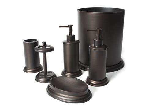 6 pc rubbed bronze bath set