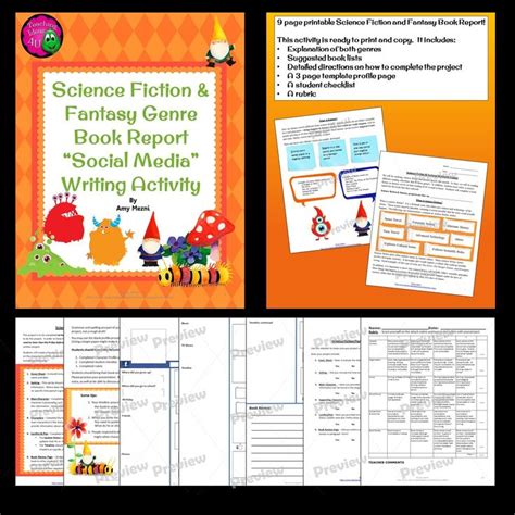 science book report science fiction genre book reports make a