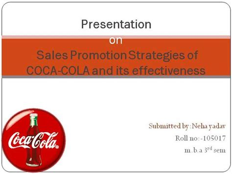 Sales Promotion Letter Ppt Presentation On Sales Promotion Strategies Of Coca Cola And Authorstream