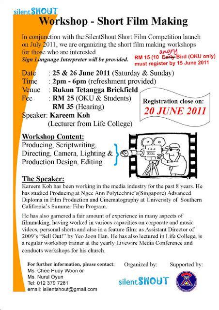 film workshop malaysia silentshout workshop short film making deaf boleh