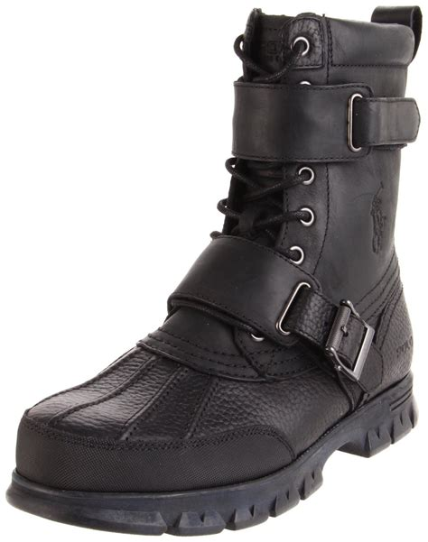 black polo boots polo ralph mens varick hiking boot in black for