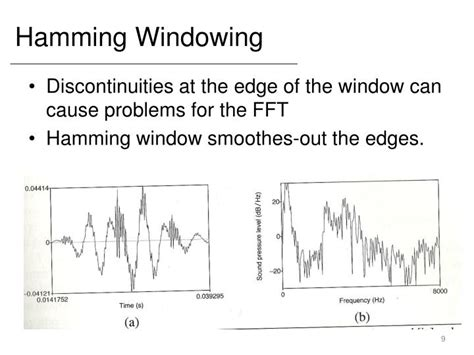high pass filter using hamming window ppt representing acoustics with mel frequency cepstral coefficients powerpoint presentation