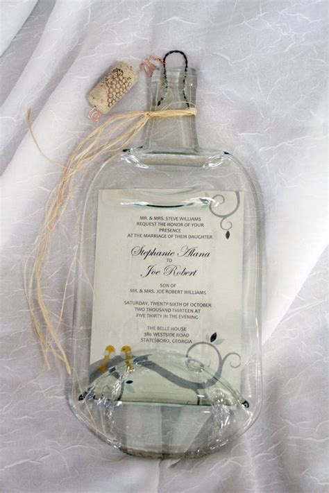Melted Wine Bottle with Keepsake Wedding by