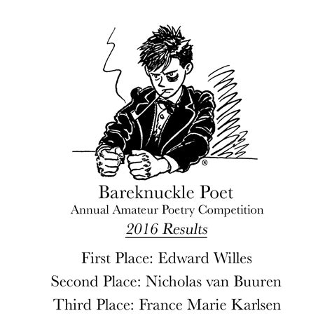 The Of Poetry bareknuckle poet annual poetry competition 2016