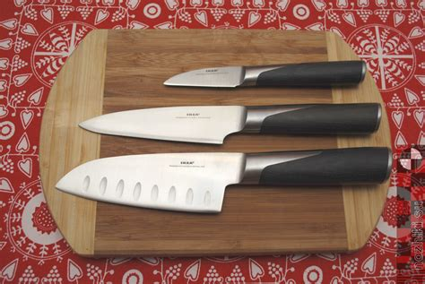 ikea kitchen knives ikea slitbar kitchen knives santoku petty vegetables dsc 0359
