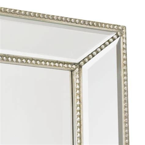 channing silver beaded floor mirror williams sonoma
