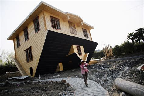 upside down house hot shots photos of the day upside down house overloaded