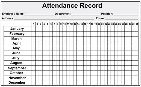 excel employee attendance sheet  catchy printable template sheets