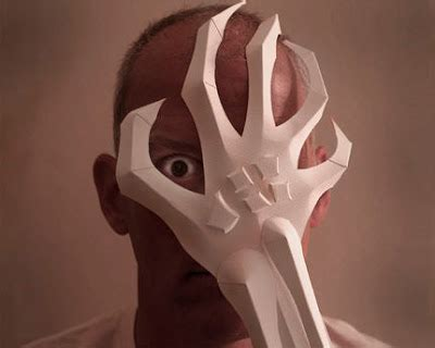 How To Make Scary Masks Out Of Paper - punch dozens of downloadable masks