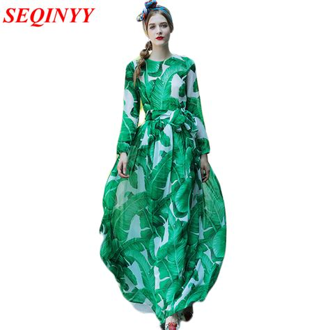 aliexpress buy new fashion summer dress 2017 runway aliexpress buy fashion dress 2017 summer new fashion palm leaves print with belt