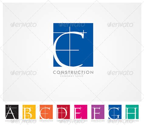 Construction Company Logo By Eamejia Graphicriver Templates For Construction Companies