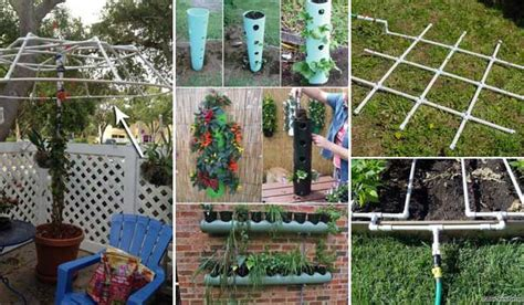 diy garden projects top 20 low cost diy gardening projects made with pvc pipes