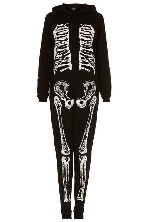 Skeleton Rantai Black 1 lyst topshop skeleton onesie in black