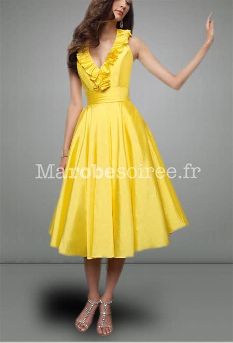 robe de soirée ambre decolleté v plongeant style années 50 sur mesure