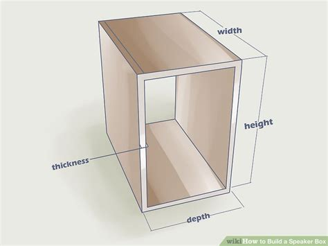 how to put a box together how to build a speaker box 12 steps with pictures wikihow
