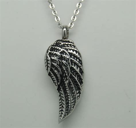 memorial jewelry wing cremation cremation jewelry wing urn necklace urn memorial 14 99