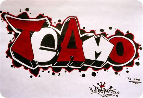 imagenes k digan te amo en graffiti de graffitis de te amo imagui