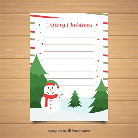 layout christmas letter christmas letter template in flat design vector free