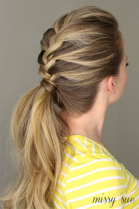 ponytail braid hairstyles braid ponytail