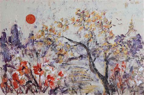 Zen Inspired serson art zen blossoms painting