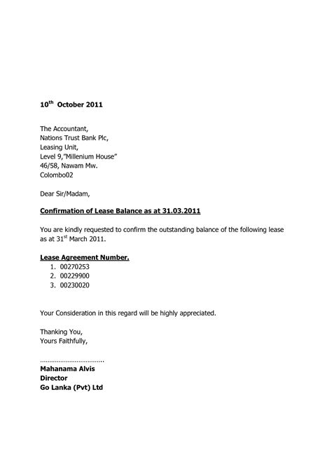 balance certification letter best photos of balance letter sle outstanding balance