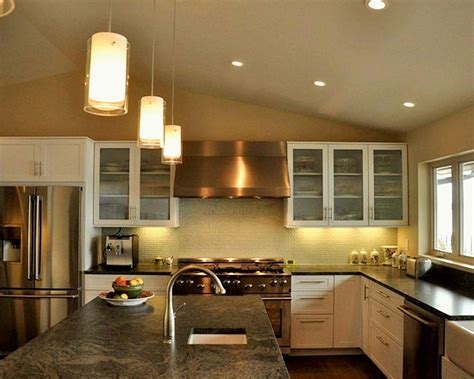 cylindrical mini pendant lights kitchen island