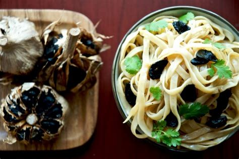 black garlic noodles umami blast white on rice