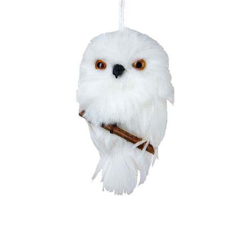 white owl with branch christmas ornament gump s