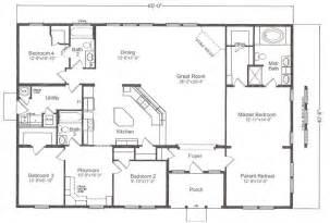 Floor Plans For 40x60 House by Custom Skyline 40x60 2338 Sq Ft Ziegler Homes