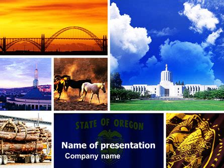 oregon powerpoint template backgrounds 05142