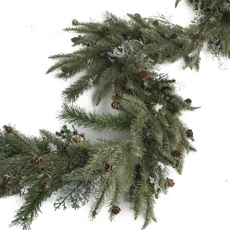 frosted artificial pine garland garlands floral