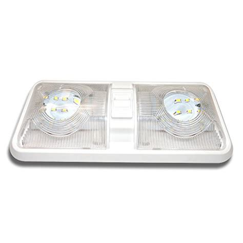 Rv Led Ceiling Double Dome Light Fixture With On Off Car Dome Light Fixture