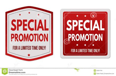 Special Giveaway - special promotion stickers set stock vector image 55001164