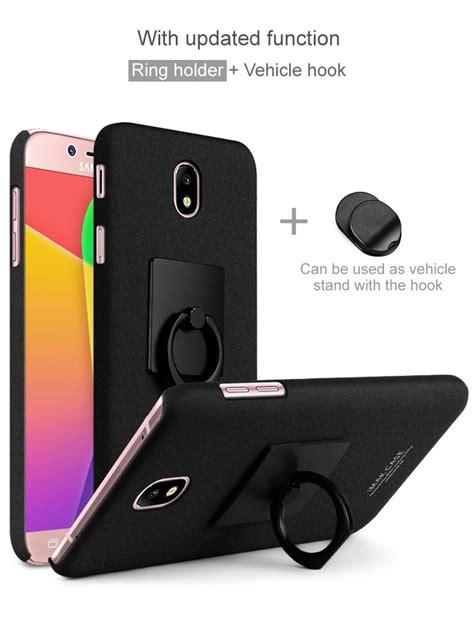Slim Black Matte Samsung J5 Pro imak ring holder kickstand matte pc phone for samsung