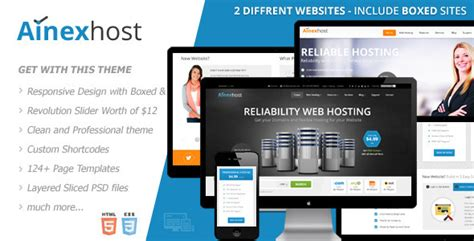 ainex host responsive hosting template by gsrthemes9