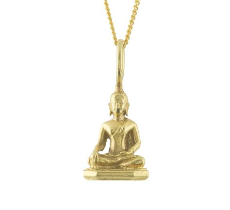 silver or gold buddha pendant by mullally