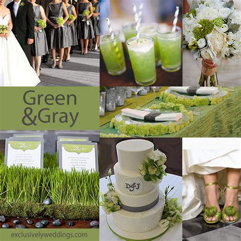 green wedding colors gray wedding color the new neutral exclusively weddings