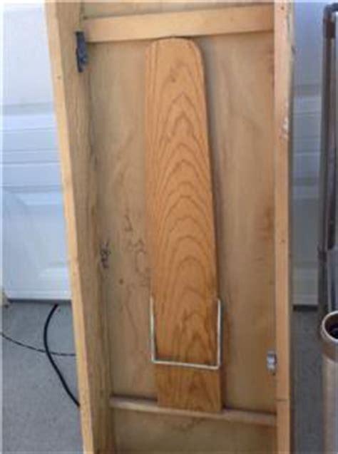vintage fold out ironing cabinet board j f ebay