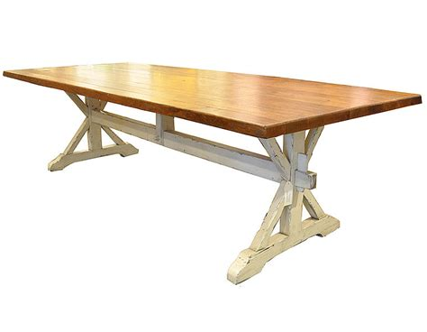 oak trestle dining table j tribble