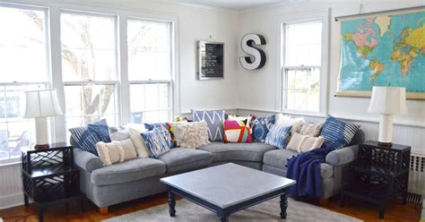 blue and white family room thrifted blue and white family room hometalk